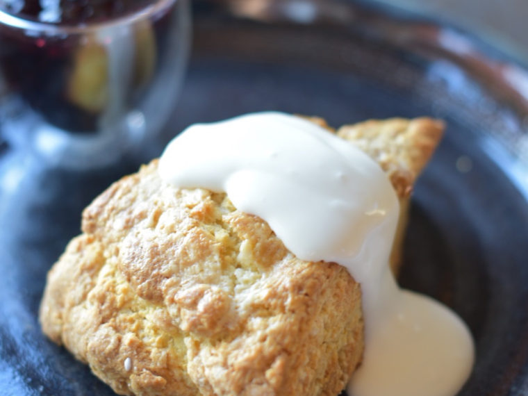 Scone pastry for breakfast